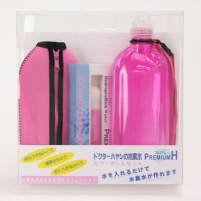 ドクターハヤシの水素水 プレミアムH  カラーボトルセット ピンク