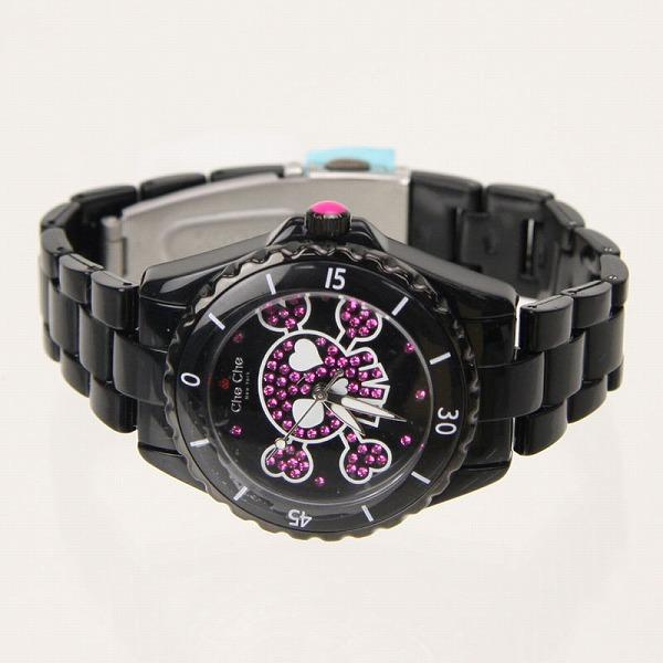 チチニューヨーク Che Che New York 腕時計 レディース スポーティ グローイングスカル CC745SK-BK